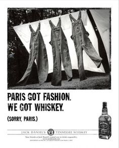 Great Ad for Jack Daniels.