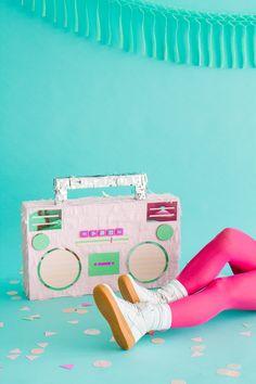 DIY 80's Style Boombox Pinata | Oh Happy Day!