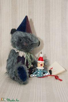 Tiny Red Ted: Bonifác - mohair teddy bear Teddy Bear, Christmas Ornaments, Toys, Holiday Decor, Red, Home Decor, Products, Xmas Ornaments, Decoration Home