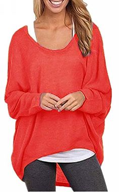 Uget Women's Casual Oversized Baggy Off-Shoulder Shirts P... https://www.amazon.com/dp/B01MEG7I05/ref=cm_sw_r_pi_dp_x_c5FTybZ36XDAG