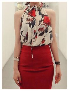 Blouse Styles, Blouse Designs, Casual Outfits, Cute Outfits, Mode Chic, Work Attire, Printed Blouse, Look Fashion, Fashion Ideas