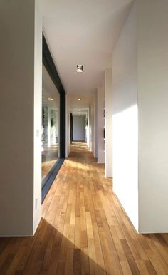 White walls and natural floor