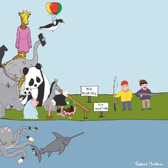 "Donkey ""Tino"" & Co. Happiness!!! No Fishing & No Hunting! by Federico Monzani"