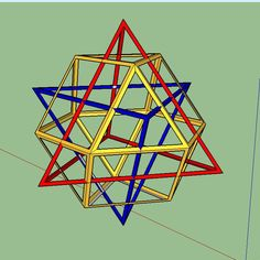 Skeletal equivalent of 64-tetrahedron matrix (Nassim Haramein) show it as a combination of three basic shapes.