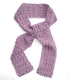 Lacy Lilac Crochet Scarf, by Kent Crafts Peacock Butterfly, Cotton Scarf, Shawls And Wraps, Scarf Wrap, Lilac, Crafts, Gift Ideas, Crochet Ideas, Palette