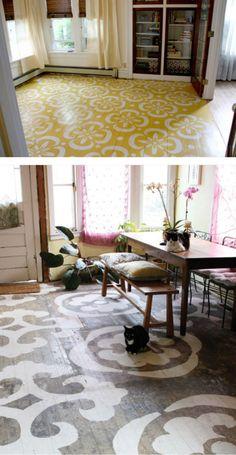 Painted floors...love it.