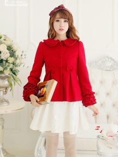 little red charming darling coat