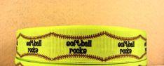 3 Yards Softball Rooke Ribbon Grosgrain ribbon 7/8 by Softba11Bows