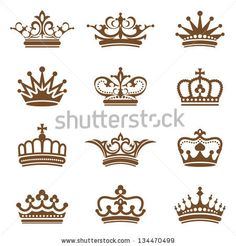 Crown collection by hoperan, via ShutterStock