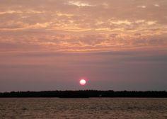 Sunset while kayaking in 2011
