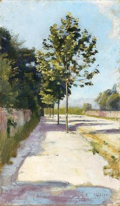 wetreesinart: Ferdinand Hodler (Suisse, 1853-1918), Strasse Von St. Georges, 1877, huile sur toile, collection privée