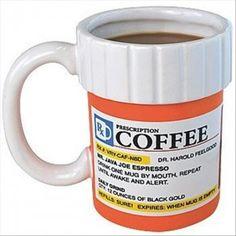 Prescription Coffee #coffeebreak #coffeelover #coffee #mugs #funny @Amora Marzulo Coffee
