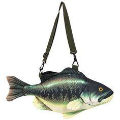 Vissen schoudertas baars