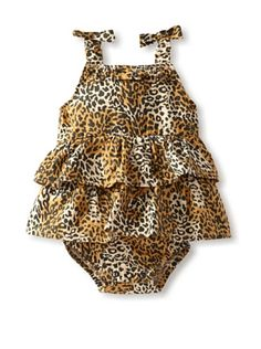 60% OFF Oh Baby London Baby Tiered Romper (Leopard Print) #apparel #Kids