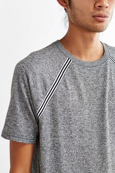 Add a twill tape like this to give raglan sleeve effect