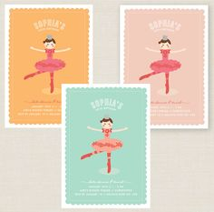 Items similar to Ballerina Party Invitation, birthday - pdf printable ballet invite in pink, yellow or blue on Etsy Note Cards, Thank You Cards, 5th Birthday, Birthday Ideas, Party Invitations Kids, Ballerina Party, Rsvp, Invite, Pink Yellow