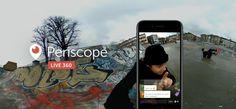 Periscope herkese 360 derecelik yayınlar açıyor