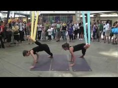 ▶ Antigravity Yoga Demo - YouTube