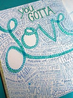 I made one of these, but I ended up writing the words too small. So instead of taking forever to fill up ALL the space, I outlined all the words and since I'd written them all in green, I painted blue around them to make it look like some sort of continent. I'd recommend this to anyone who is really bored and wants a craft to do! It was very cool to make. DIY