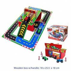 This Racing Set is a made with quality wood and painted with vibrant colours, it is safe for the kids and the environment, as well as great fun to play with! Building For Kids, Building Toys, Hip Dysplasia Baby, Race Car Sets, Special Needs Toys, Creative Play, Working With Children, Educational Toys, Wooden Boxes