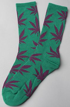 $12.00  The Plant Life Socks in Green by Huf SF