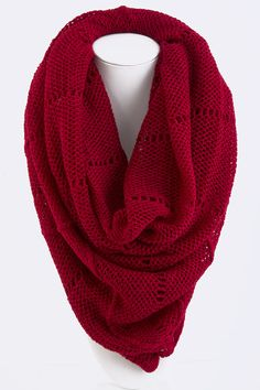 Carmen Infinity Scarf on Emma Stine Limited... Can I have this please? I keep wondering why I don't have a red scarf...