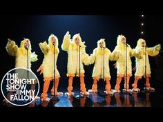 """The Backstreet Boys drop new album and perform as chickens on 'The Tonight Show'. The Backstreet Boys released their studio album DNA on Friday after appearing on """"The Tonight Show. Jimmy Fallon, Derek Hough, Backstreet Boys Lyrics, Backstreet's Back, Tonight Show, Tv Show Quotes, Hit Songs, Golden Girls, Boy Bands"""