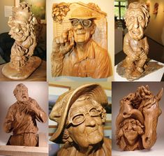 wood sculptures by Fred Cogelow