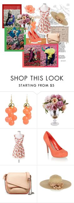 """""""Floral"""" by shinee-pearly ❤ liked on Polyvore featuring Kate Spade, GuildMaster, J by Jasper Conran, Zara, Oasis and Jon Richard"""