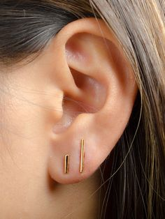 COMBO Boucles d'oreille de Barre Argent Sterling par lunaijewelry