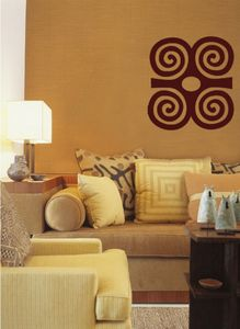 "Image of ""Strength"" Adinkra Symbol Wall Decal - Love the idea of these symbols as wall decor."