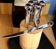 Spanner / wrench steak knife set