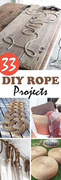 33 Crafty and Creative DIY Rope Projects that You'll Relish