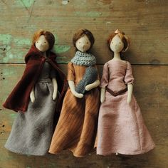 Wow these are beautiful! They would make a good alternative to Barbie dolls for an older girl