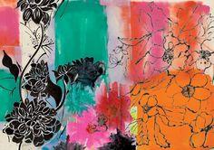 "Saatchi Online Artist: Sisters Gulassa; Digital Painting, 2012, New Media Art ""Black Dahlia by Lise"""