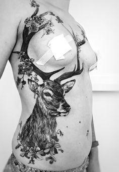 Glorious Practical deer tattoo of Underboob for lady – Madlyne van Looy Tattoo & Artwork Cover Up Tattoos, Body Art Tattoos, New Tattoos, Small Tattoos, Tatoos, Floral Tattoos, Mandala Arm Tattoo, Hirsch Tattoo, Motivational Tattoos