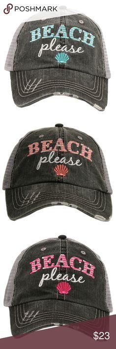 a4dba083f6f Beach Please Baseball Hat ~ Super Cute Beach please trucker hat ~ Adorable  and perfect hat