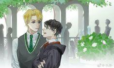 Harry Potter Fan Art, Cute Harry Potter, Harry Potter Ships, Harry Potter Anime, Harry Potter Cast, Harry Potter Hogwarts, Drarry Fanart, Baguio, Harry Potter Draco Malfoy