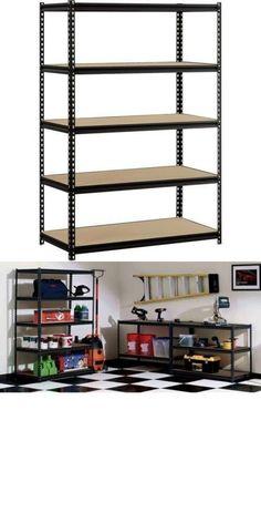 Other Home Organization 20621: Garage Heavy Duty Shelf Steel Metal Storage 5 Level Adjustable Shelves Unit New -> BUY IT NOW ONLY: $81.07 on eBay!