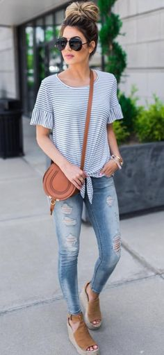 These Non-Boring Casual Spring Work Outfits ideas will definitely help you in deciding the best work looks this spring. Look Fashion, Fashion Outfits, Womens Fashion, Jean Outfits, Fashion Spring, Trendy Fashion, Black Outfits, Feminine Fashion, 50 Fashion