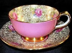 Bone China Collectible Tea Cup Set in Pink, I would love to add this to my collection♡