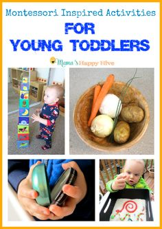 This is week four of 28 Montessori Inspired Activities for Toddlers. These activities are easy to put together with items found around the home.