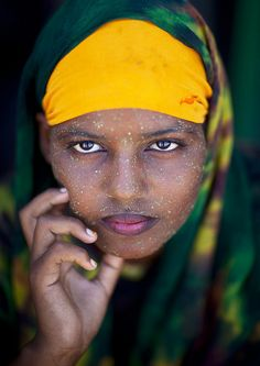 """Somali women use qasil which comes from a tree as a protection from the sun and a natural beauty product. Because they're worth it!"" Berbera beauty - Somaliland by Eric Lafforgue, via Flickr -"