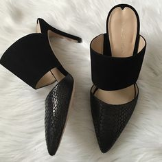 Via Spiga black mule Gorgeous black snip on heels. Amazing quality. Brand new in box. Offers welcome through offer tab. No trades. Via Spiga Shoes Mules & Clogs