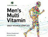 Mens Multivitamin - Quality Vitamin Formulation for B12, B6, D and Omega 3/Omega 6 - Help to restore your performance, energy and improve your mental and overall health. Made in the USA - Best by Ambroley Incorporated