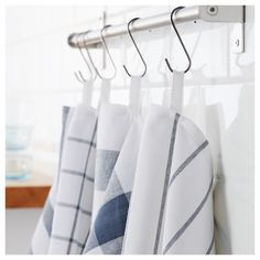 From kitchen towels, aprons and pot holders. IKEA carries a variety of kitchen linens to ensure you're fully prepared for any cooking occasion or situation. Ikea Mulig, Ikea Raskog, Malm, Dish Towels, Tea Towels, Raskog Utility Cart, Recycling Facility, Hemnes, Shoe Cabinet