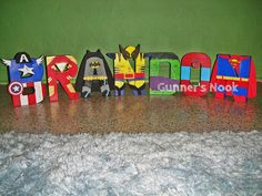 Hey, I found this really awesome Etsy listing at https://www.etsy.com/listing/155411022/superhero-character-letter-art
