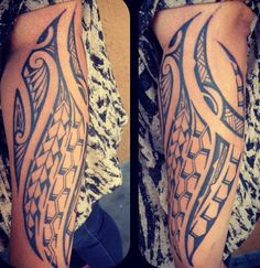 tatouage-avant-bras-tribal-maori-files-bandes-symboles-motifs-modele-dessins-tressages-polynesiens-men-forearm-tattoo