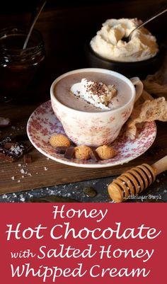 Salted Honey Hot Chocolate #saltedhoney #hotchocolate #honey
