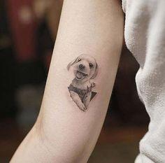 küçük sevimli köpek dövmesi small cute dog tattoo
